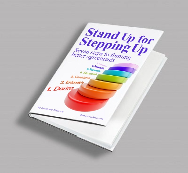 Standing up book cover